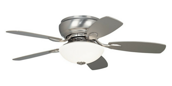 best brushed steel bedroom ceiling fan