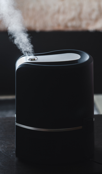 how does a warm mist humidifier for large rooms work?