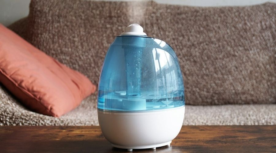easy to clean humidifier on a table
