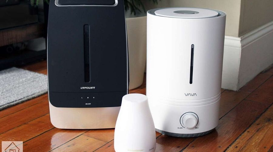 humidifier for large room on a wooden floor