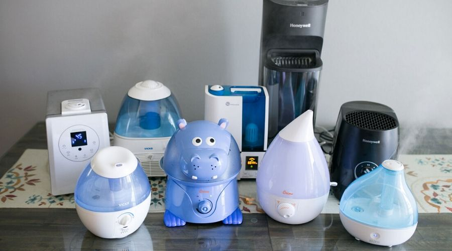 different types of humidifiers for large room on a floor