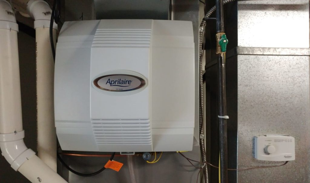 furnace humidifier installed