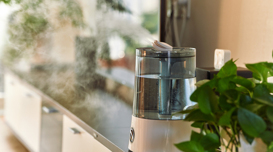 small humidifier on a table