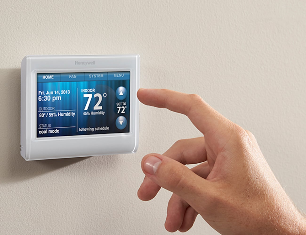 Programmable Thermostat in use