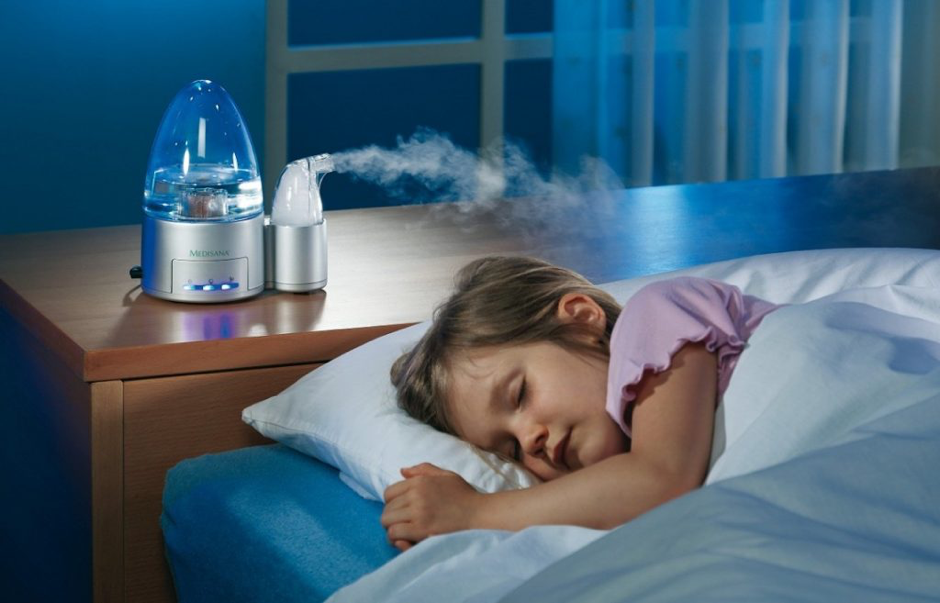 Young girl sleeping while using Humidifier for Baby Cough