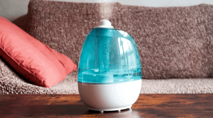 Safest humidifier sitting on a table