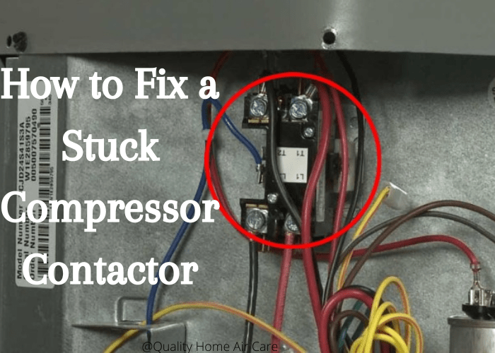 Wiring show how to fix a stuck compressor contactor