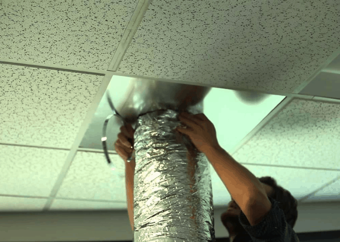 Venting Portable Air Conditioner through the Ceiling