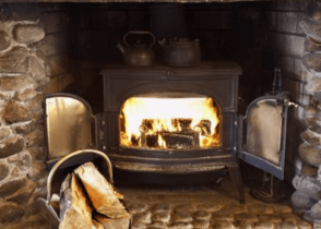 installing a wood burning stove in an existing fireplace