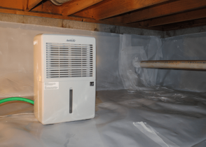 how to heat a crawl space